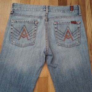 "7 For All Mankind ""A"" Pocket Light wash Jeans"